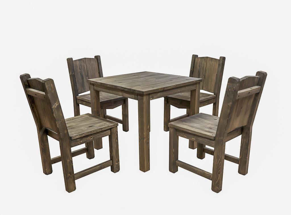 Söögitoolid ja laud komplektina. Viimistletud puiduõliga